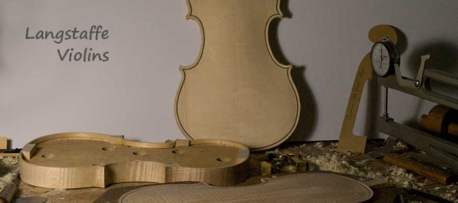violin being made